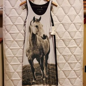 Pieces Graphic Horse Dress